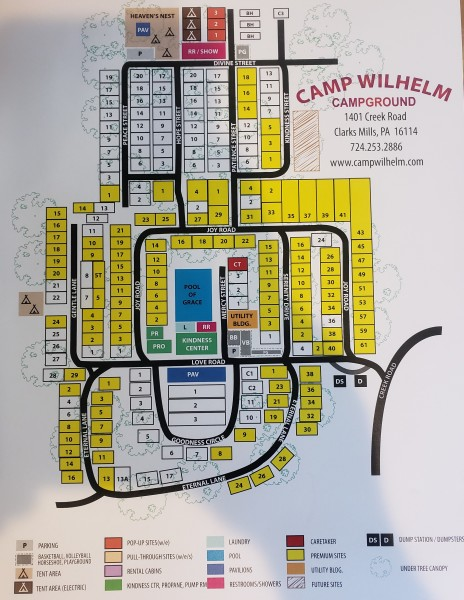 CAMP WILHELM CAMPGROUND MAP